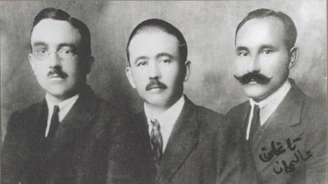 А. Валиди, А. Инан, Г. Таган. Будапешт, 1925.