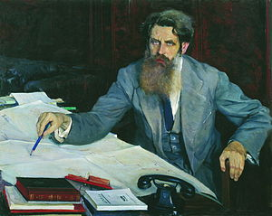 Otto Schmidt - Portrait of Otto Schmidt by Mikhail Nesterov (1937)