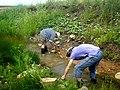 Проведение гидрологических замеров ручья.jpg