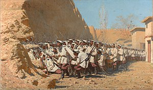 Konstantin von Kaufman - The painter Vasily Vereshchagin accompanied Kaufmann in his campaigns.