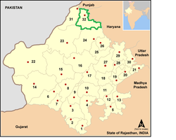Vị trí của Huyện Hanumangarh