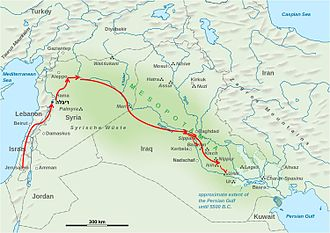 History of Israel - The route of the exiles to Babylon