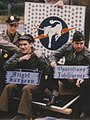 """""""Flight Surgeon"""" """"Operations Intelligence"""" and pilot - 359th Fighter Group - V-E Day Celebration (cropped).jpg"""