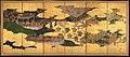 """源氏物語図屏風 (胡蝶)-""""Butterflies"""" (""""Kochō""""), Chapter 24 from The Tale of Genji (Genji monogatari) MET DP362565.jpg"""