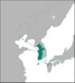 백제의 지도 (4세기, 진출지 표시).png