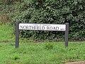 -2018-12-06 Street name sign, Northfeild Road, Mundesley.JPG