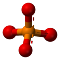 Aromatic ball and stick model of phosphate