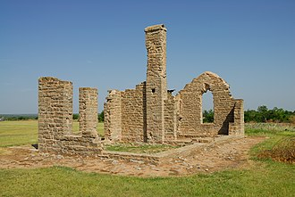 National Register of Historic Places listings in Shackelford County, Texas - Image: 0011Fort Griffin Tx Admin Building
