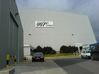 Pinewood Studios - The 007 stage at Pinewood Studios in March 2006, before the July fire and rebuilding