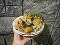 0099Nilagang repolyo, petsay Tagalog, kamote, patatas, kamatis at Pritong Dalag (Bulig) sa tanglad 38.jpg