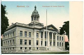 Contra Costa County, California - Postcard showing the Contra Costa County Courthouse in 1906.