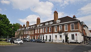 Richmond, London - Georgian houses at Old Palace Terrace on Richmond Green