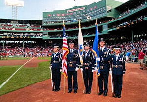 102d Intelligence Wing Honor Guard at Fenway Park