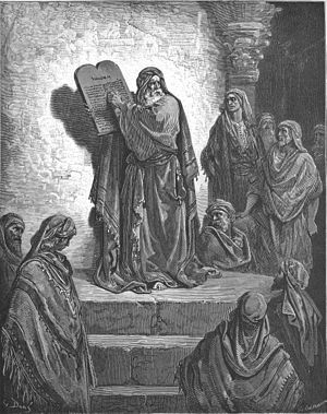 "Ezra - ""Ezra Reads the Law to the People,"" one of Gustave Doré's illustrations for ''La Grande Bible de Tours''"