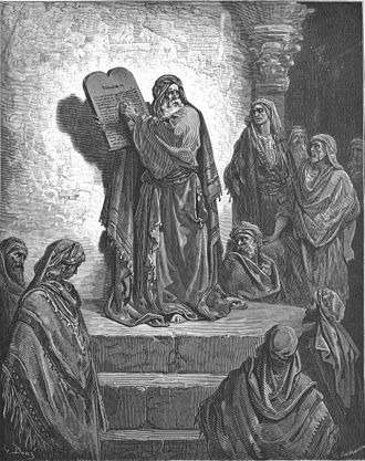 Ezra - Ezra Reads the Law to the People, one of Gustave Doré's illustrations for La Grande Bible de Tours