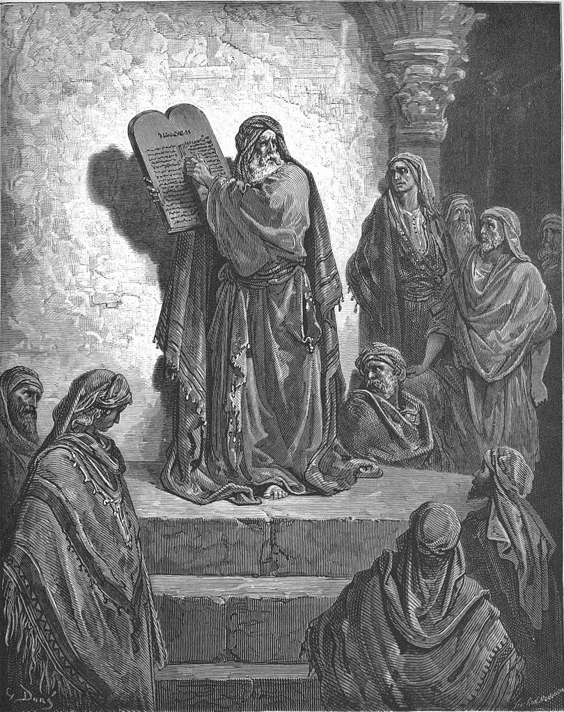 백성들에게 율법을 낭독하는 에스라 (귀스타브 도레, Gustave Dore, 1865년)