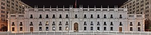 La Moneda Palace - View of La Moneda from the Plaza de la Ciudadanía