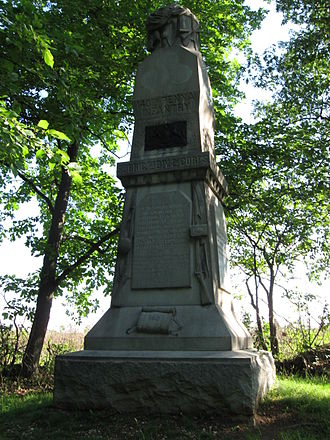 140th Pennsylvania Infantry - 140th Pennsylvania monument erected by the state of Pennsylvania, 60 yards to the west of the original monument at Gettysburg