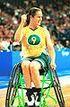 141100 - Wheelchair basketball Liesl Tesch stoked 2 - 3b - 2000 Sydney match photo.jpg