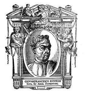 Giovanni Francesco Rustici - Giovan Francesco Rustici, as depicted in the 1568 edition of Giorgio Vasari's Le Vite