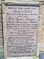 14 - 20 Cathedral Square, Barony North Church - Plaque for 1684 martyrs.jpg