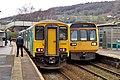 150256 Bridgend to Aberdare 2A36 and 142002 Treherbert to Cardiff Central 1F50 (27367022388).jpg