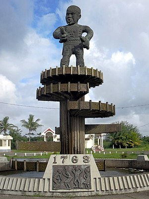 Berbice slave uprising - 1763 Monument on Square of the Revolution in Georgetown, Guyana, designed by Guyanese artist Philip Moore