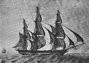 1802 ship Margaret of Salem byMFCorne.png
