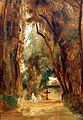 1837 Blechen Park der Villa Borghese anagoria.JPG
