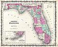 1862 Johnson Map of Florida - Geographicus - FL-johnson-1862.jpg