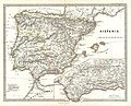 1865 Spruner Map of Spain and Portugal - Geographicus - Hispania-spruner-1865.jpg