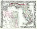 1874 Mitchell Map of Florida w- Mobile, Alabama inset - Geographicus - FL-m-1874.jpg