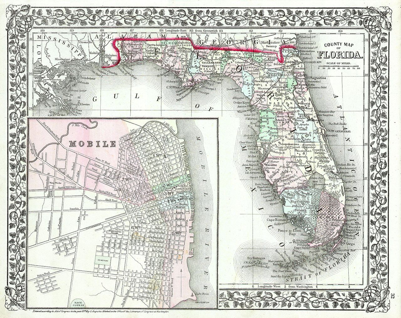 File Mitchell Map Of Florida W Mobile Alabama Inset - Map of alabama and florida