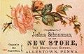 1882 - Joshua Schnurmans Store 2 - Trade Card - Allentown PA.jpg