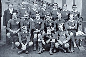 Wales national rugby union team - The 1895 Wales team before playing England in the Home Nations Championship