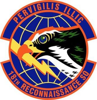 18th Reconnaissance Squadron - 18th Reconnaissance Squadron Patch
