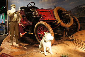 Horatio Nelson Jackson - Exhibit at the National Museum of American History recreating H. Nelson Jackson's first successful North American transcontinental automobile trip in a 1903 Winton touring car, the Vermont