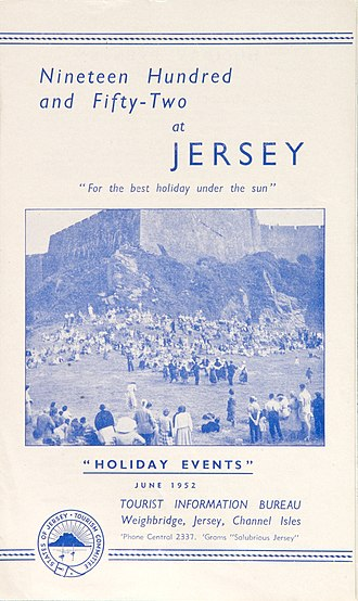 Gill Sans - 1952 Jersey holiday events brochure, typical of the design style of the period