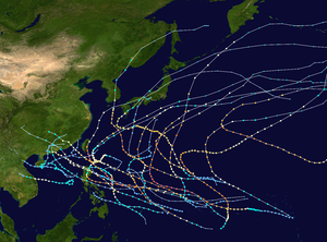 1957 Pacific typhoon season summary map.png