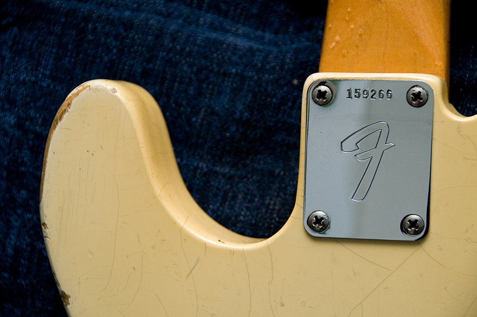 1966 Fender Telecaster (SN159266) neck joint plate