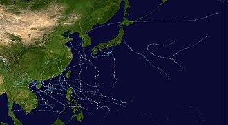 1973 Pacific typhoon season - Image: 1973 Pacific typhoon season summary
