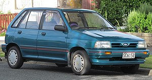 Ford Festiva - Facelift Ford Festiva GL (New Zealand; 1991–1993)