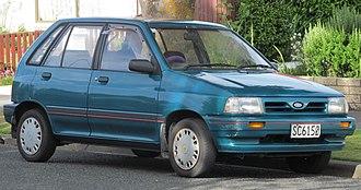 Ford Festiva - Facelift Ford Festiva GL (New Zealand; 1991–1993)
