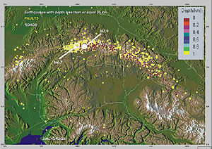 2002 Denali earthquake - Image: 2002 denali EQ location