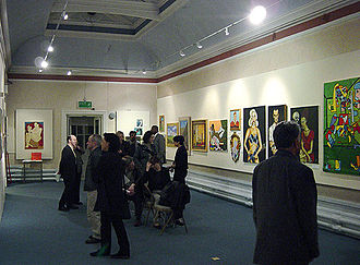 Stuckism in Australia - Tamanui's work (painting on right) in the Stuck in Wednesbury show.