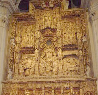 Damià Forment - The altar of the Basilica of Our Lady of the Pillar, Zaragoza, sculpted by Damián Forment between 1509-12.