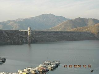 Terminus Dam dam in Three Rivers, Tulare County, California, United States