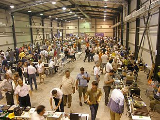 Hamfest - The main hall of the 2008 hamfest of the Radio Amateur Association of Greece.