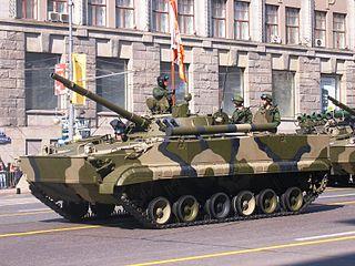 BMP-3 Soviet designed amphibious infantry fighting vehicle