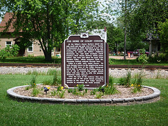 Colby cheese - A marker in Colby, Wisconsin, notes the town's relationship to the cheese.